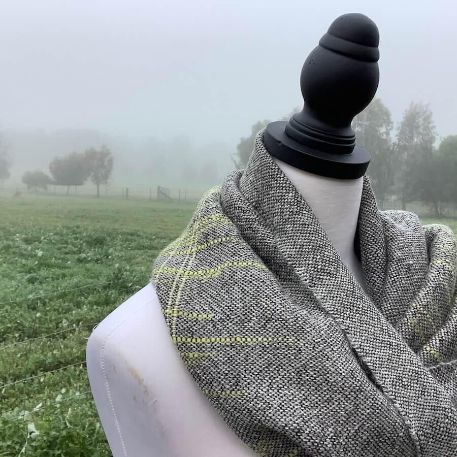 Soft grey wrap