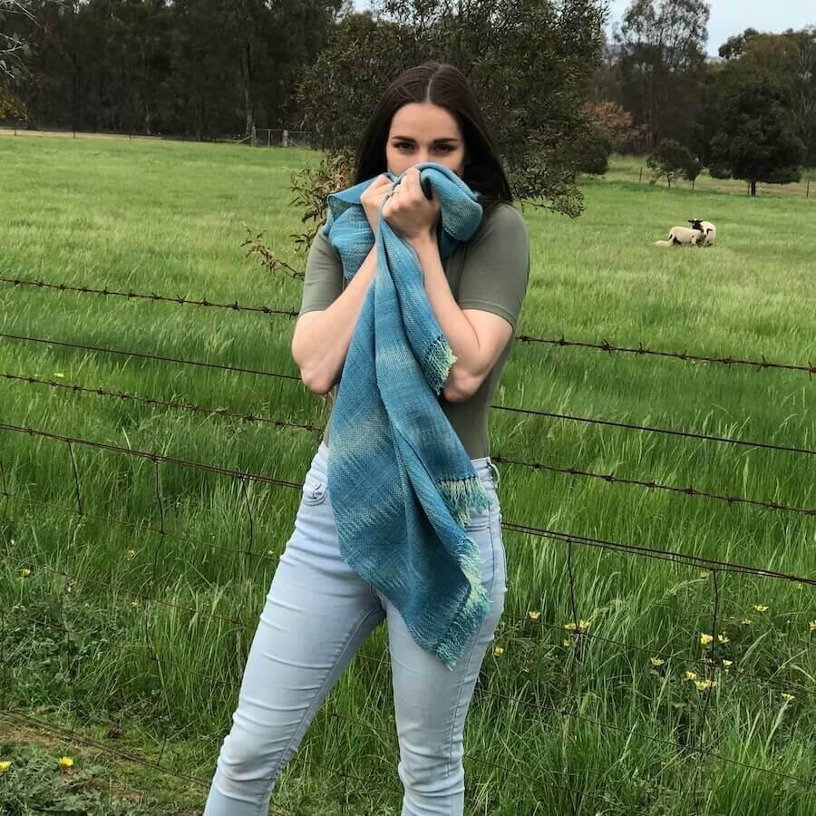 Indigo Blue Wrap
