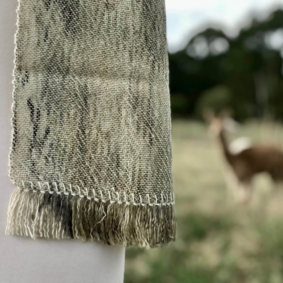 plant dyed scarf