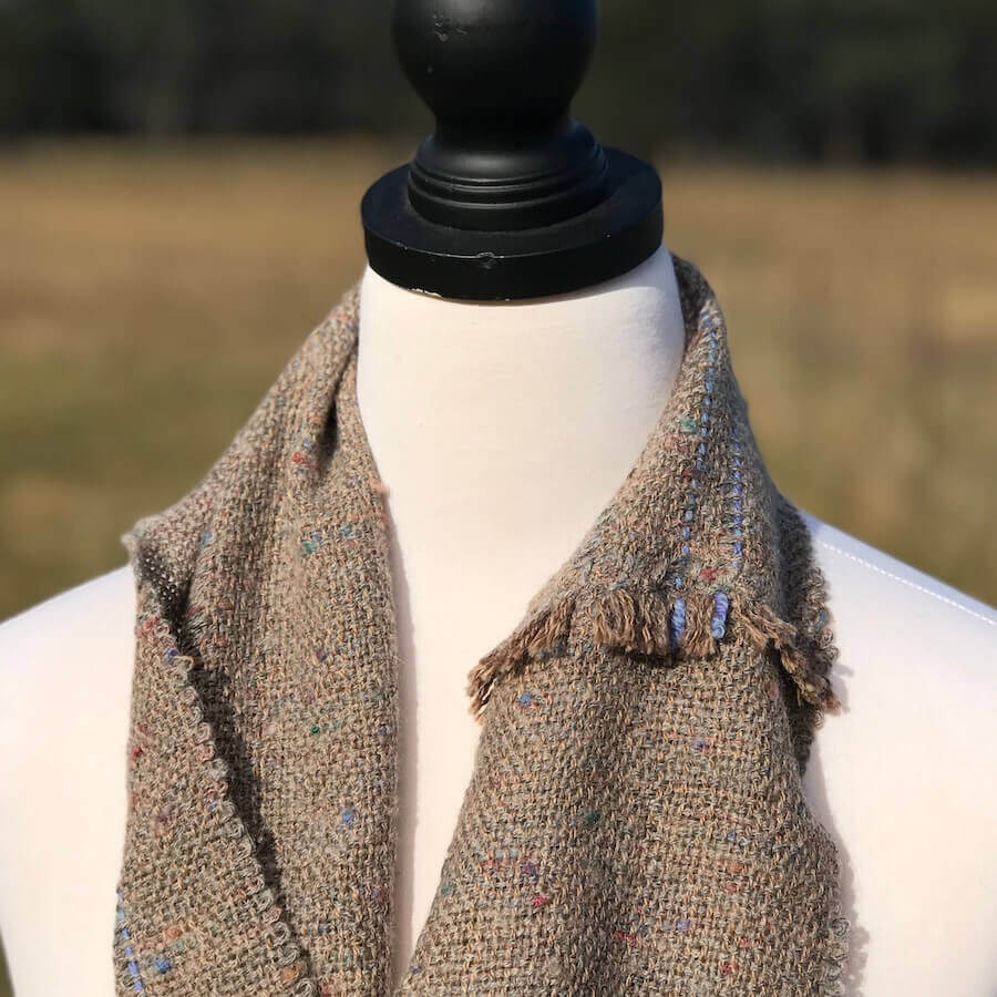 Charcoal Cowl with blue Detail
