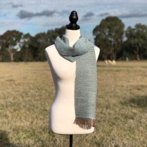slate blue scarf
