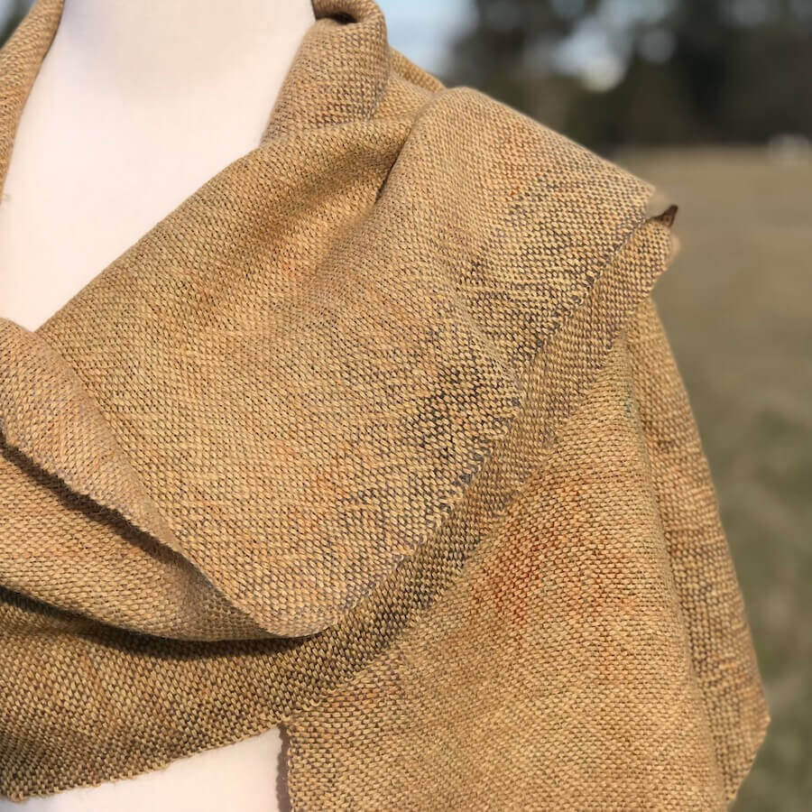 wide bush dyed scarf