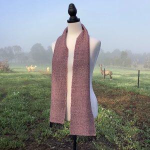 naturally died alpaca scarf